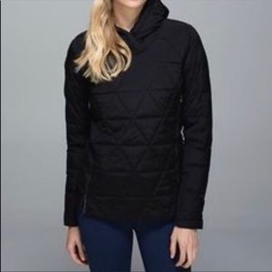 Lululemon quilted pullover with hood